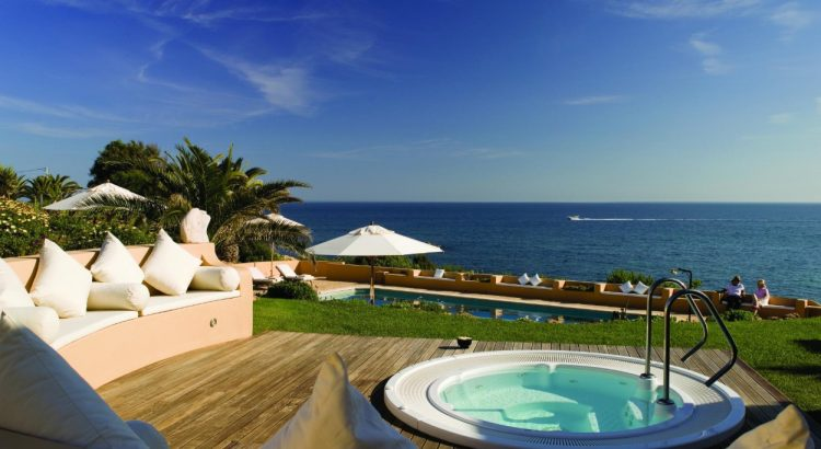 the best portuguese hotels The Best Portuguese Hotels in the South Of Portugal boutique hotel Vila Joya Albufeira Jacuzzi 1 3 3 2 750x410
