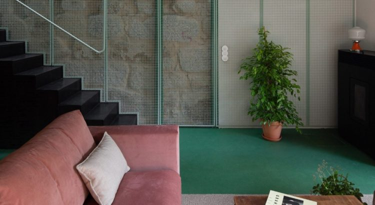Green Metal Mesh: The Concept Behind This Porto Home green metal mesh the concept behind this porto home 1 2 750x410