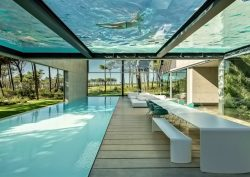 luxury villa This Luxury Villa in Portugal has a Ridiculously Cool Glass Bottom Pool 01 Wall House Luxury Residence Cascais Lisbon Portugal 250x177