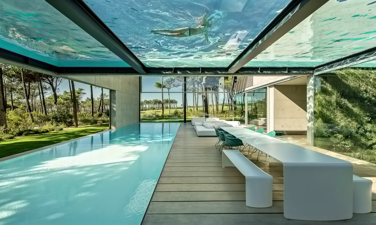 luxury villa This Luxury Villa in Portugal has a Ridiculously Cool Glass Bottom Pool 01 Wall House Luxury Residence Cascais Lisbon Portugal